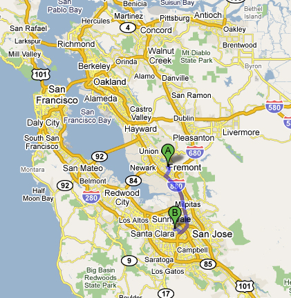 San Jose And San Francisco Map.More On California S Big Dig Coyote Blog