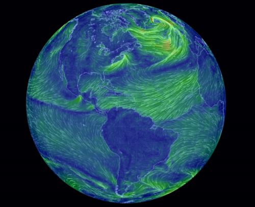 Earth-wind-map