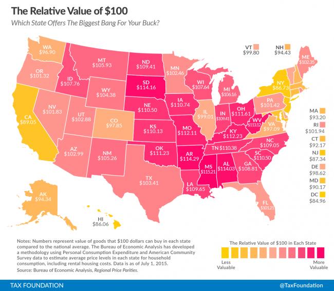 $100 Map